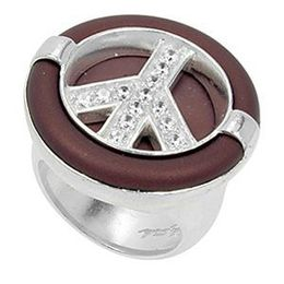 Belle Etoile Peace Rubber Collection Ring