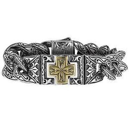 Scott Kay Two Tone Silver Mens Bracelet