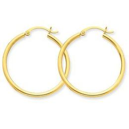 Beautiful 14k Yellow Gold Lightweight Hoop Earring