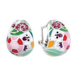 Belle Etoile Galapagos White Enamel Earrings