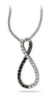 Fashion Black & White Infinity Diamond Pendant
