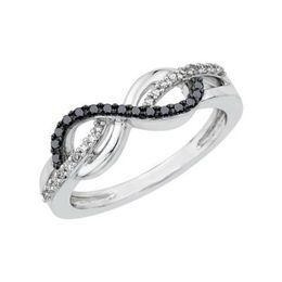 Two Tone Fashion Infinity Ring