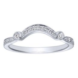 Elegant Curved Wedding Band By Polenza