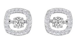 Stunning Heartbeat Diamond Earrings
